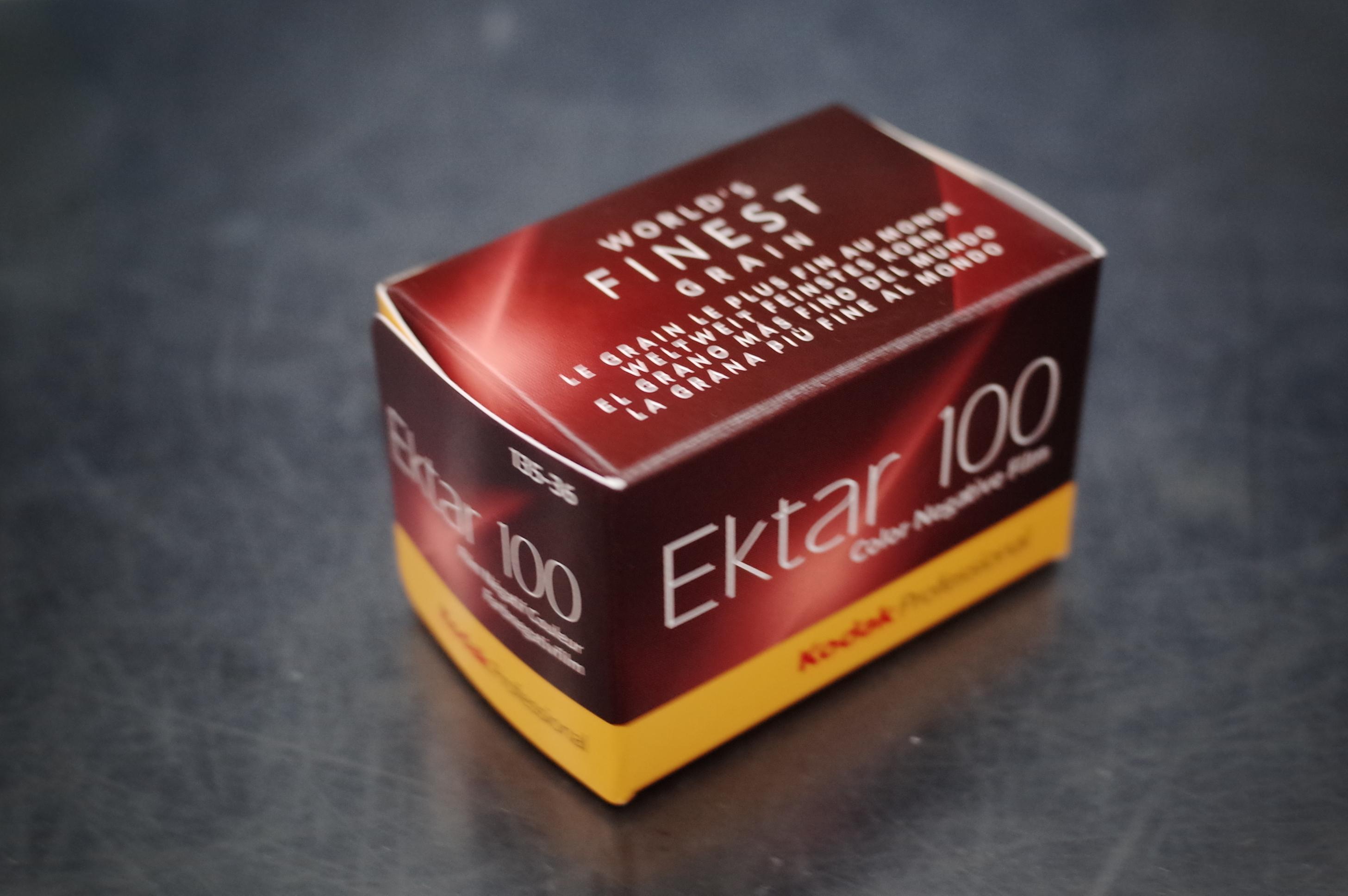 一本だけ買った。お守りみたいに。Ektar100