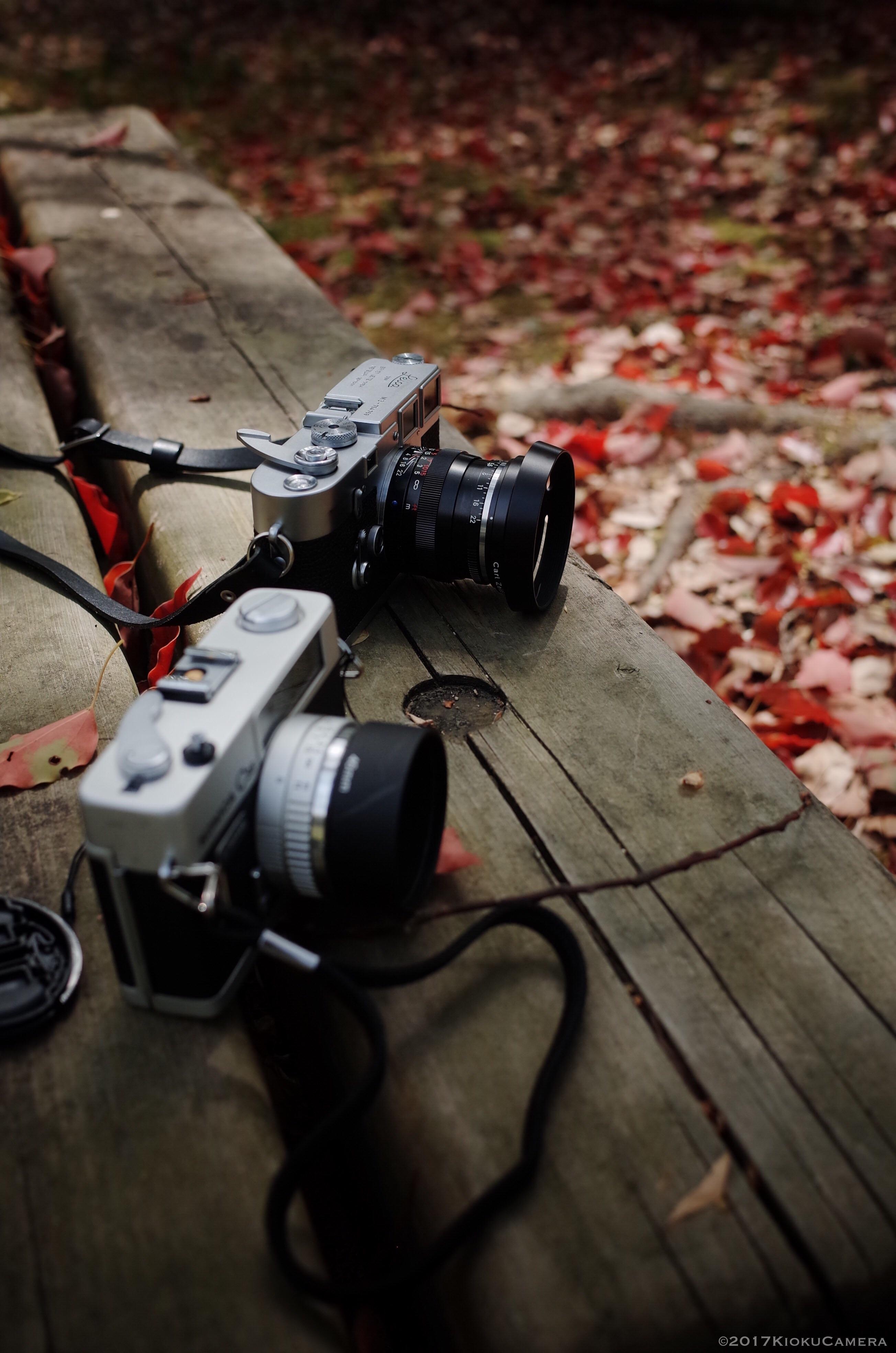 カメラたちを撮るのも趣味のひとつかもしれない。