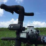 空とロードバイクとフィルムカメラと。