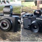 こうしてみるとよく似ている。夏用カメラ、Leica X2とBessa-L。